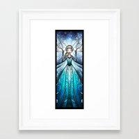 mandie manzano Framed Art Prints featuring The Snow Queen by Mandie Manzano
