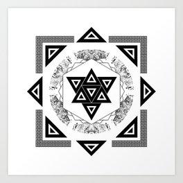 Triangels Art Print