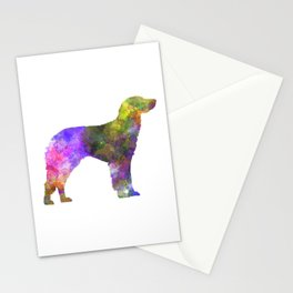 German Longhaired Pointer in watercolor Stationery Cards