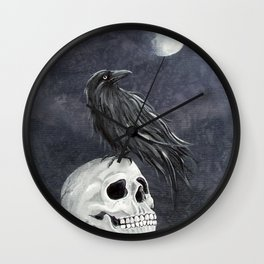 Raven 2 Wall Clock