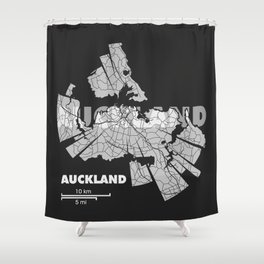 Auckland Map Shower Curtain