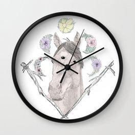Third Eye Lunar Horse Wall Clock