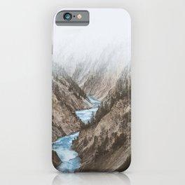 Mountain blue river iPhone Case