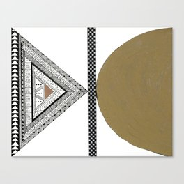 Geometric Shapes with Gold, Copper and Silver Canvas Print