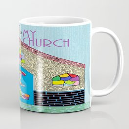 ASL I Love my Church Coffee Mug