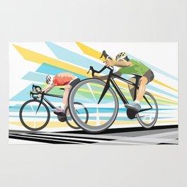 Illustration Graphic Design: Finish Line Rug