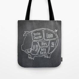Pork Butcher Diagram (Pig Meat Chart) Tote Bag