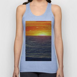 Paddle Boarding at Sunset Unisex Tank Top