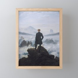 Wanderer above the Sea of Fog Framed Mini Art Print