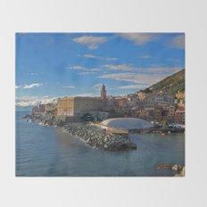 Porto di Nervi Throw Blanket