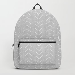 Mudcloth Big Arrows in Grey Backpack