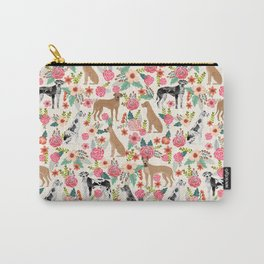 Great Dane floral dog breed pet friendly pet pattern great danes pure breed Carry-All Pouch