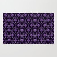 haunted mansion Area & Throw Rugs featuring Haunted Wallpaper by Ellador