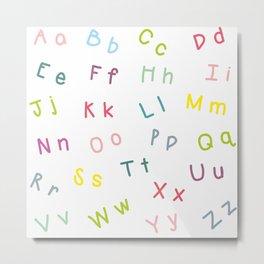 An Alphabet Metal Print