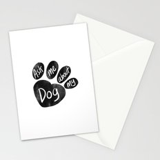 Ask Me About My Dog Stationery Cards