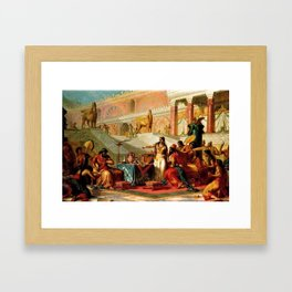 "Classical Masterpiece ""Esther Accusing Haman"" by Frederick Bensell Framed Art Print"