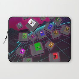 Retro 80s Synthwave Game Cartridge Collage Laptop Sleeve