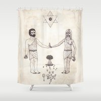 tarot Shower Curtains featuring Tarot: VI - The Lovers by Jæn ∞