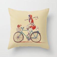 Death Ride Throw Pillow