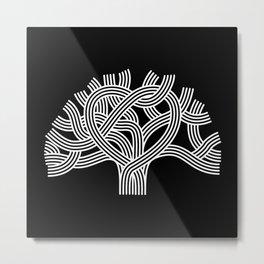 Oakland Love Tree (White) Metal Print