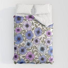 Poppy Purples Comforters