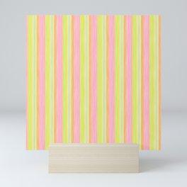Yellow Pink Lime Scrapbook Sherbert Mini Art Print