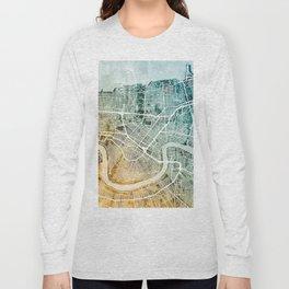 New Orleans Street Map Long Sleeve T-shirt