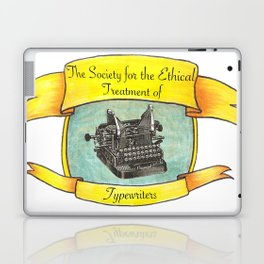The Society for the Ethical Treatment of Typewriters Laptop & iPad Skin
