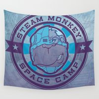 camp Wall Tapestries featuring SPACE CAMP by Chip David