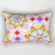 Beaux Arts Pink Waves Rectangular Pillow