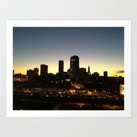 Hartford Skyline  Art Print