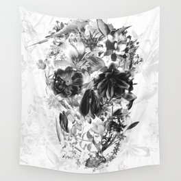 New Skull Light B&W Wall Tapestry