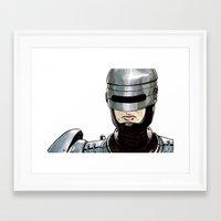 robocop Framed Art Prints featuring Robocop by Nicole Cuvin