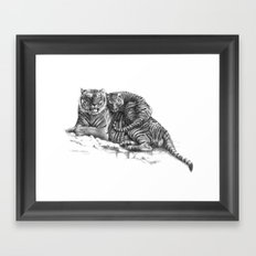 Tiger and Cub G2011-023 Framed Art Print