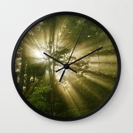 Sunrise Trees Wall Clock