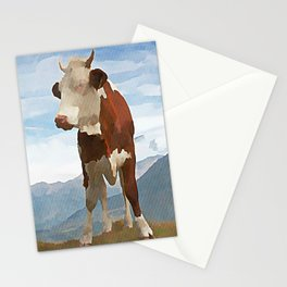 Alp Milk - Kubistika by Boris Draschoff Stationery Cards