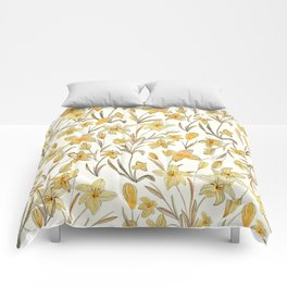 Yellow Floral Pattern Comforters