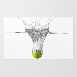Lime splash Rug