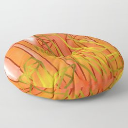 Crystals - Orange Floor Pillow