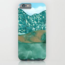 Teal Layers iPhone Case