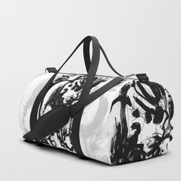 Saint With Bird - b&w Duffle Bag