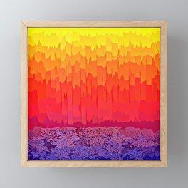 Fire Sun Splash Framed Mini Art Print