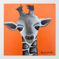 Baby Giraffe Orange Print. Animal Art animal print giraffe print kids room nursery art Canvas Print