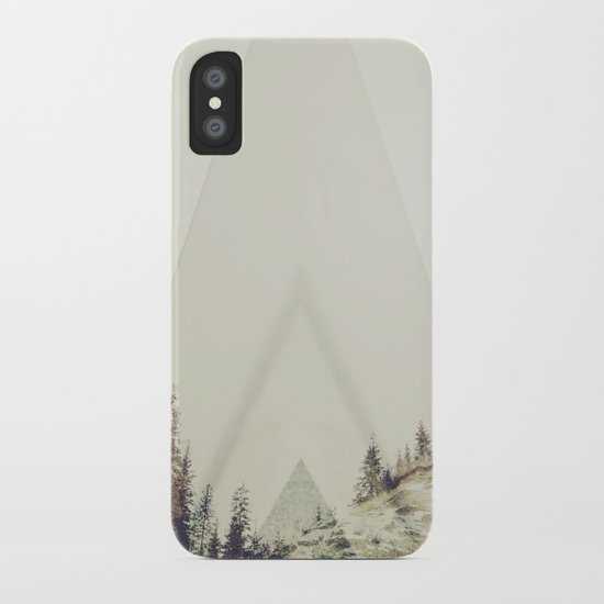 in A cabin in the woods iPhone Case