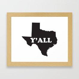 Texas Yall Framed Art Print