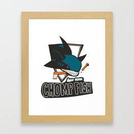 san hose chomp fish Framed Art Print