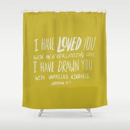 Everlasting Love x Mustard Shower Curtain