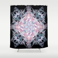 snowflake Shower Curtains featuring Snowflake. by Assiyam