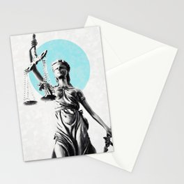 Lady of justice Stationery Cards