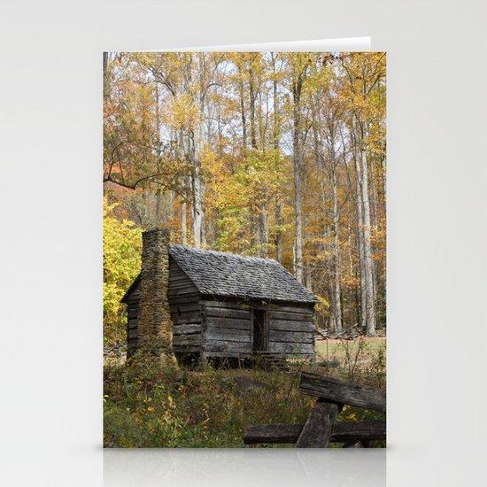 Smoky Mountain Rural Rustic Cabin Autumn View by gsallicat